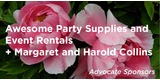 Sponsor - Awesome Party Supplies and Event Rentals + Margaret and Harold Collins