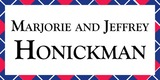 Sponsor - Marjorie and Jeffrey Honickman
