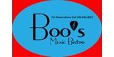 Sponsor - Boo's Music Bistro